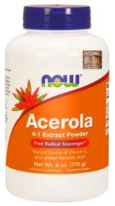 NOW Foods ACEROLA natural WITAMINA C  170g