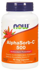 NOW AlphaSorb-C 500 witamina C kwas ALA RUTYNA 90k