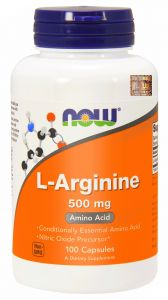 NOW Foods L-ARGININE arginina 500 mg 100 kaps
