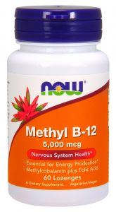 WITAMINA B12 5mg + kwas foliowy METYLO NOW FOODS