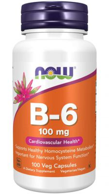 WITAMINA B6 B-6 100mg 100tab NOW FOODS