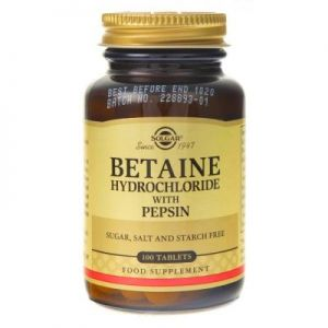 SOLGAR BETAINE HCL 100t PEPSYNA betaina trawienie