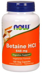 NOW FOODS BETAINE HCL betaina pepsyna 120k