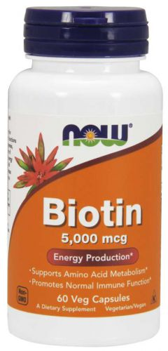 NOW FOODS BIOTYNA 5mg 60kap witamina H