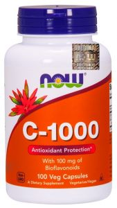 WITAMINA C 1000mg 100kap bioflawonoidy + rutyna NOW Foods