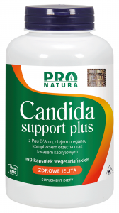 NOW FOODS CANDIDA SUPPORT PLUS kwas KAPRYLOWY 180k
