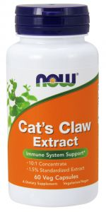 Cat's Claw EKSTRAKT koci pazur VILCACORA NOW FOODS