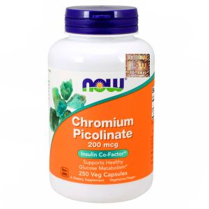 NOW Foods CHROM PIKOLINIAN Picolinate 200mcg 250k
