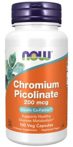 NOW Foods CHROM PIKOLINIAN Picolinate 200mcg 100k