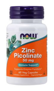 NOW FOODS CYNK PIKOLINIAN ZINC 50mg 60kap