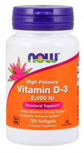 Witamina D3 d-3 2000ju 120k NOW FOODS