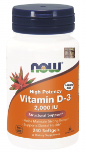 NOW FOODS VITAMIN D-3 2000 IU 240kap WITAMINA D3