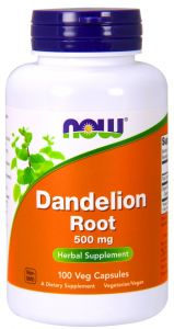 DANDELION ROOT 500 mg MNISZEK LEKARSKI Now Foods