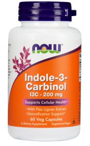 NOW FOODS Indole 3 Carbinol 200mg 90 kaps.