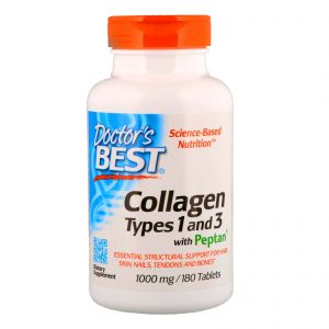 Doctor's Best COLLAGEN KOLAGEN typ 1 i 3 180 tab