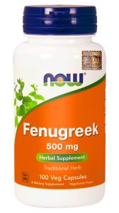 NOW Foods FENUGREEK Kozieradka 500mg 100 kaps