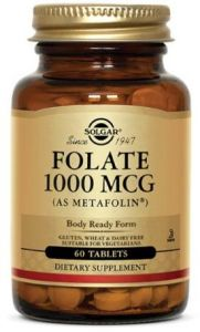 SOLGAR FOLIAN 1000mcg Folate METAFOLIN Foliany