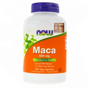 NOW Foods MACA libido sex WZMOCNIENIE 500mg 250 kaps