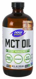 NOW Foods MCT OIL PURE Olej z kokosa PŁYN 473 ml