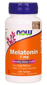NOW Foods MELATONINA witamina B6 B3 MAGNEZ 100kap