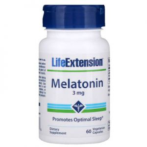 LIFE EXTENSION MELATONINA 3mg 60 kaps