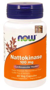 NOW Foods NATTOKINAZA 100mg 60k  NATTOKINASE