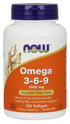 NOW Foods OMEGA 3 6 9 1000mg 100 kaps
