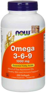 NOW Foods OMEGA 3 6 9 1000mg 250 kaps
