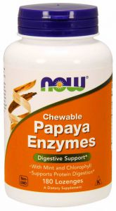 Now Foods PAPAYA ENZYMES  ENZYMY trawienne 180 tab.
