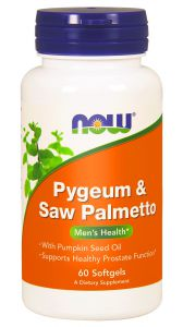 Now Foods Pygeum i Saw Palmetto 60 kaps.