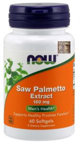 NOW Foods SAW PALMETTO ekst. 160mg 60 kaps