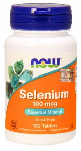 SELEN L-selenometionina 100mcg 100tab NOW FOODS