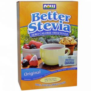 NOW FOODS BETTER STEVIA stewia 100 SASZETEK