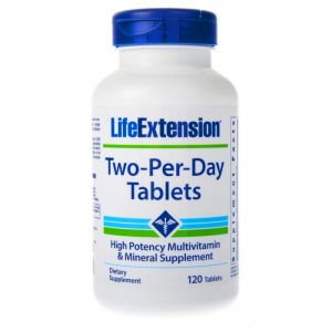 LIFE EXTENSION TWO-PER-DAY multiwitamina 120 tab